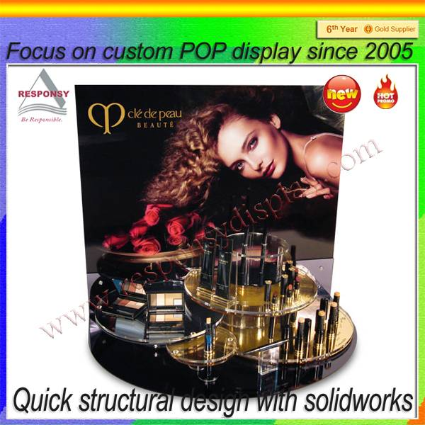 Fashionable countertop display stand for cosmetic