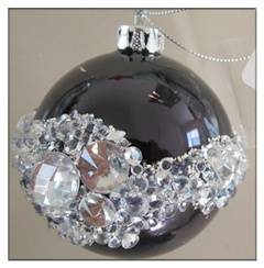 Wholesale christmas glass ball with full print