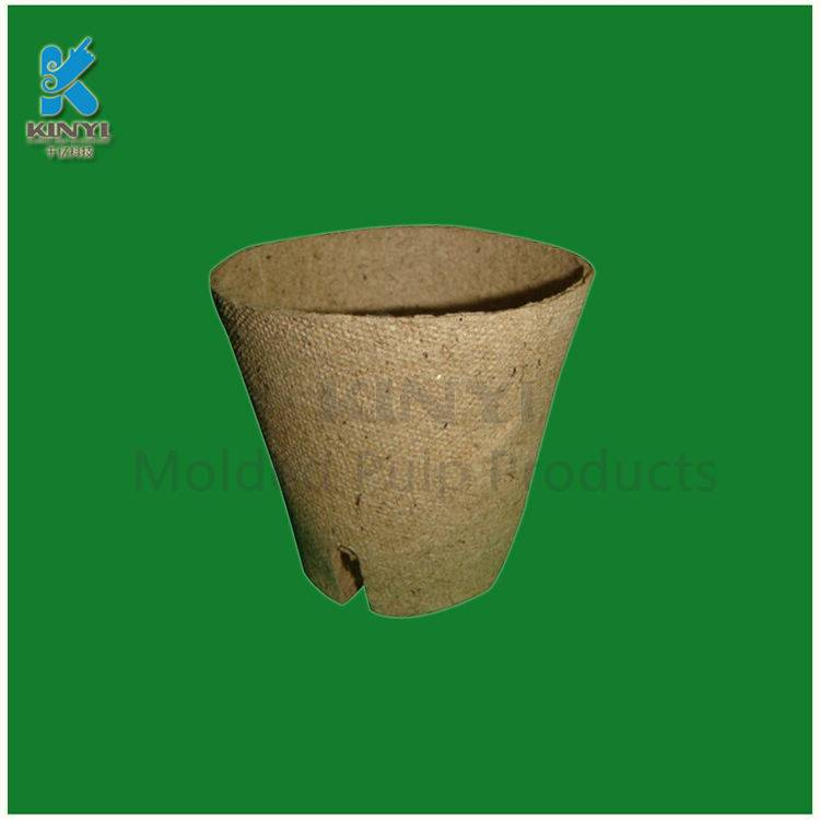 Environmental paper pulp tray, flower pots, planters
