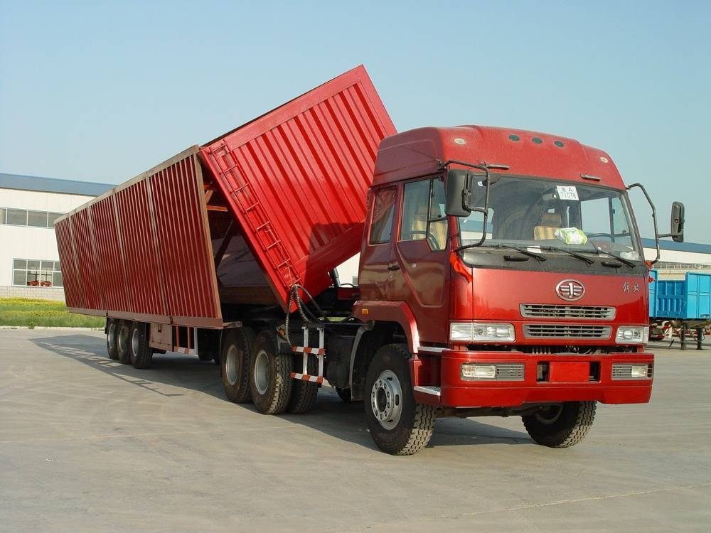 High Quality 3 Axles Side Tipper/Dump Semi Truck Trailer