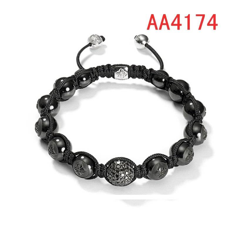 black man bead bracelets with braiding