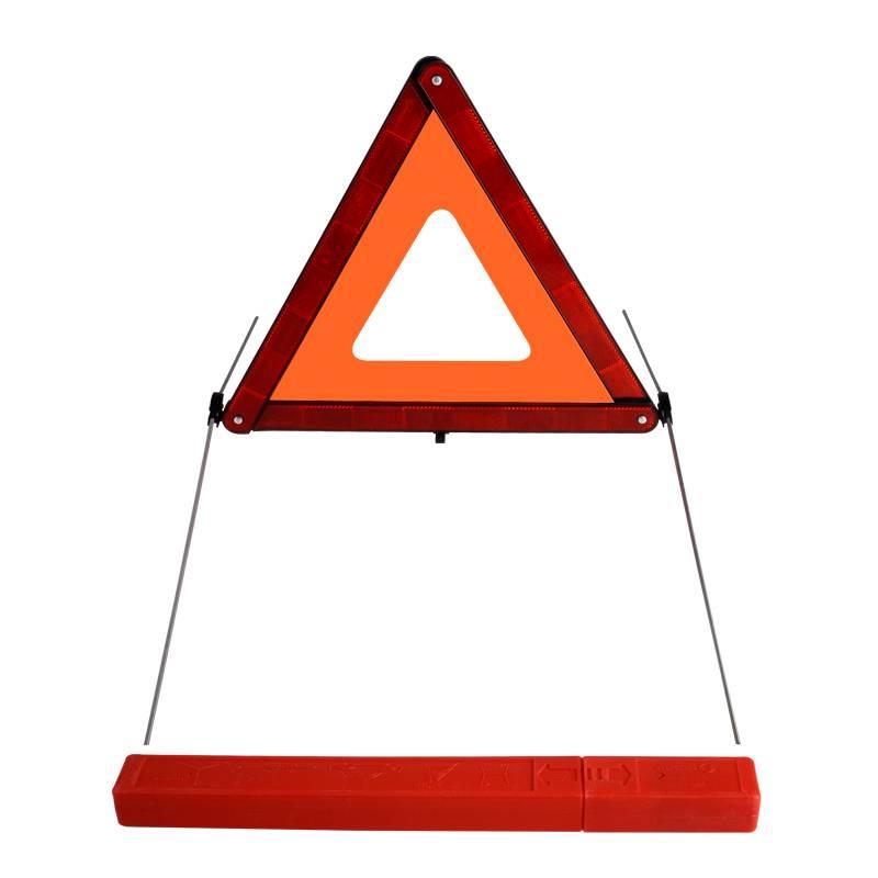 High reflective emergency warning triangle