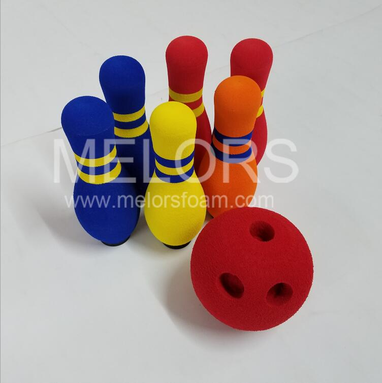 Melors Hot sale EVA Foam Kid Game Light Weight Bowling Set