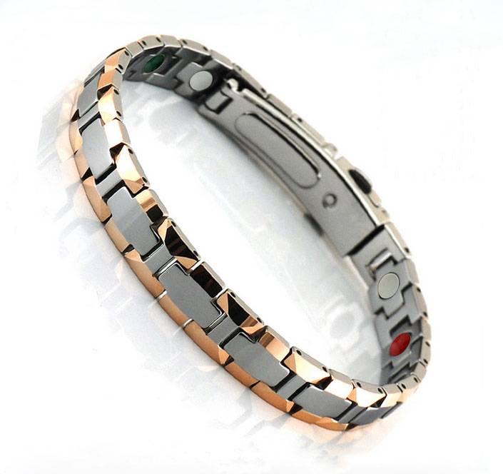Far Infrared Ray Germanium Bio Magnetic Tungsten Bracelet Stainless Steel Bracelet