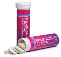 Folic acid plus Fe and Vit C effervescent tablet