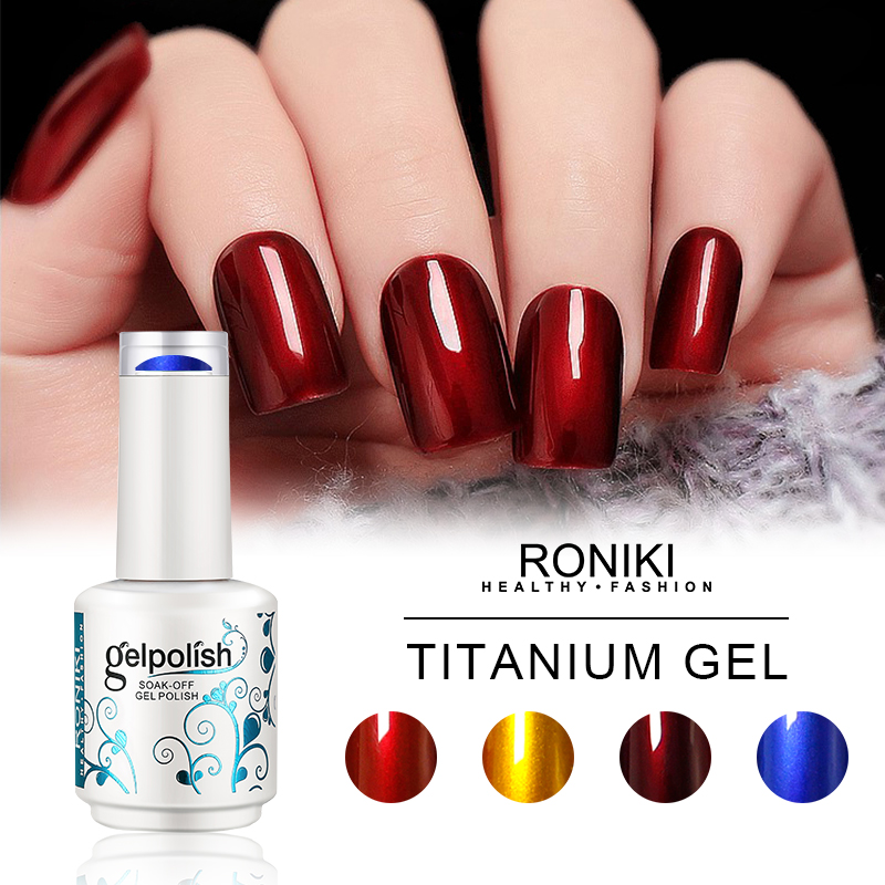 RONIKI Tatanium Gel Polish,Nail Art Gel,Nail Painting Color Gel