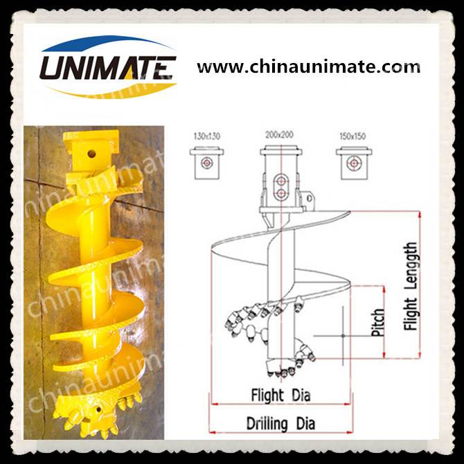 Drilling CFA auger rock auger drill CFA for rotary drilling rig drill rock auger bucket