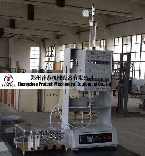 Protech lab vacuum vertical tube furnace with gas mixer