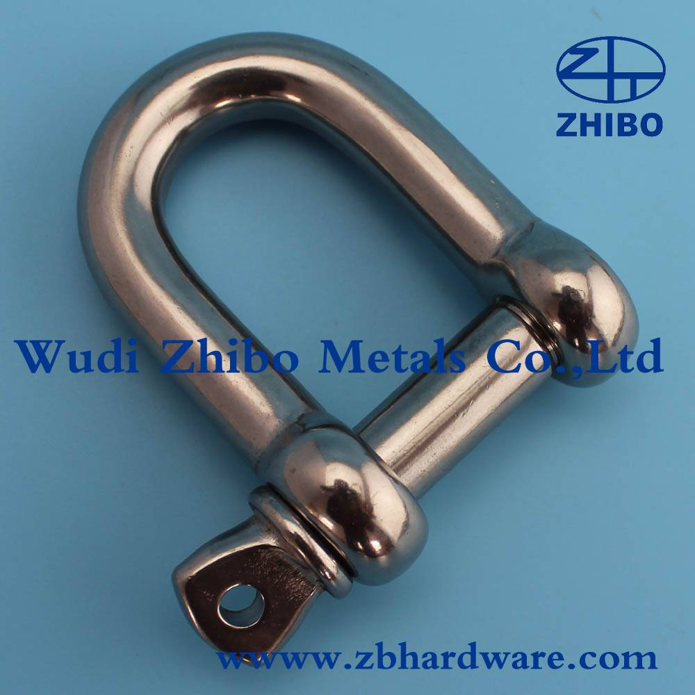 AISI304 Stainless Steel D Shackle 4mm to 38mm