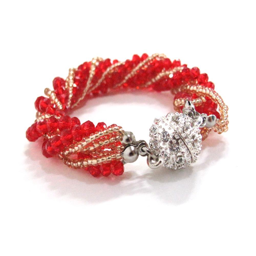 "Kinsly Women 8 color Wrap Handmade Cuff bracelets Beads Cubic bracelet """