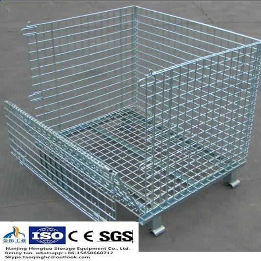 Wire Mesh Bin for Warehouse Storage with High Quality