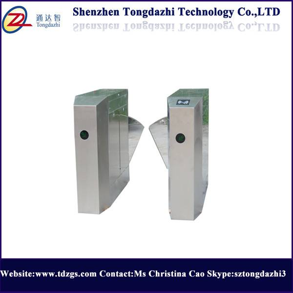 Security access flap barrier gate with time attendance system