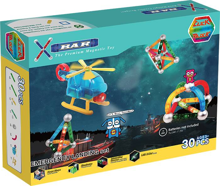 X-BAR CITY EMERGENCY Educational magnetic block toy