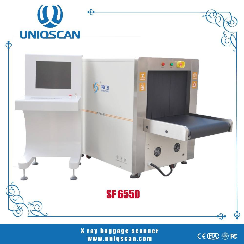 Hot sale SF6550 X-ray baggage scanner with high sensitivity