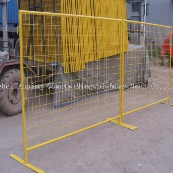 6'x10' pvc-coated temp fence panels systems