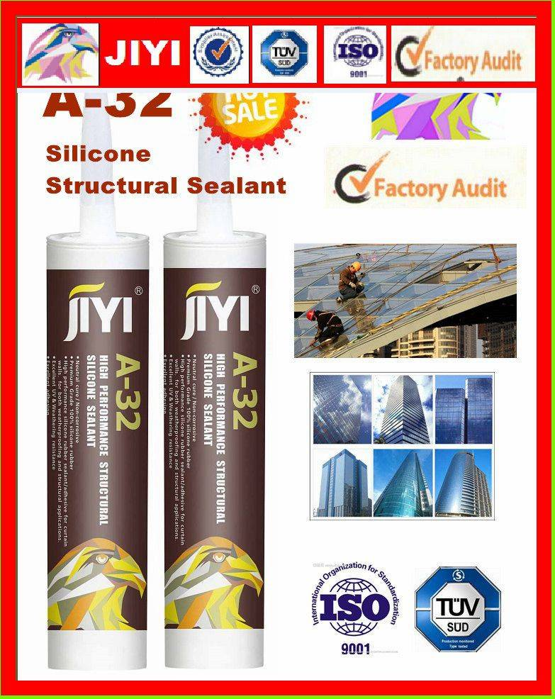silicone sealant for cautain wall fixing and bonding