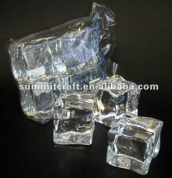 Acrylic artificial ice cube