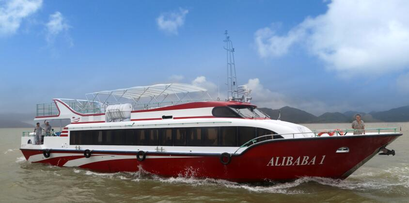 25.4m fiberglass passenger ferry boat ferry for sale