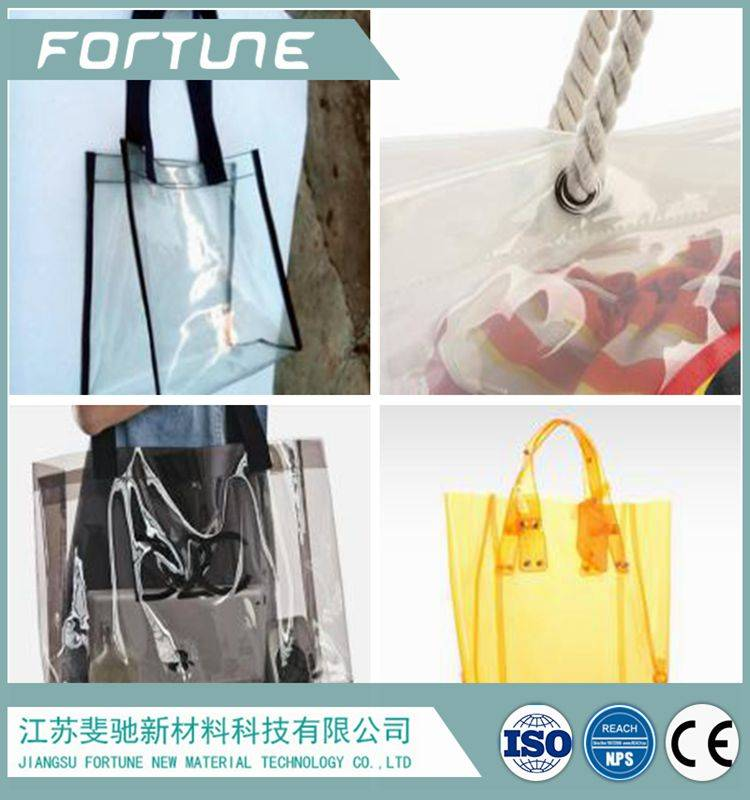 colorful transparent pvc sheet used for various bags