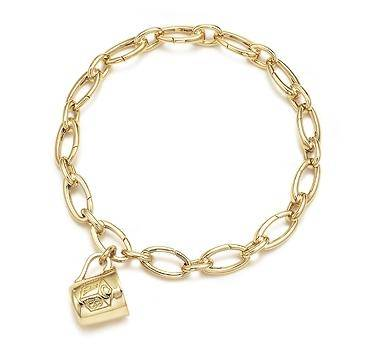 ABC baby cup Charm Bracelet 18k Gold On a 75 inches Bracelet
