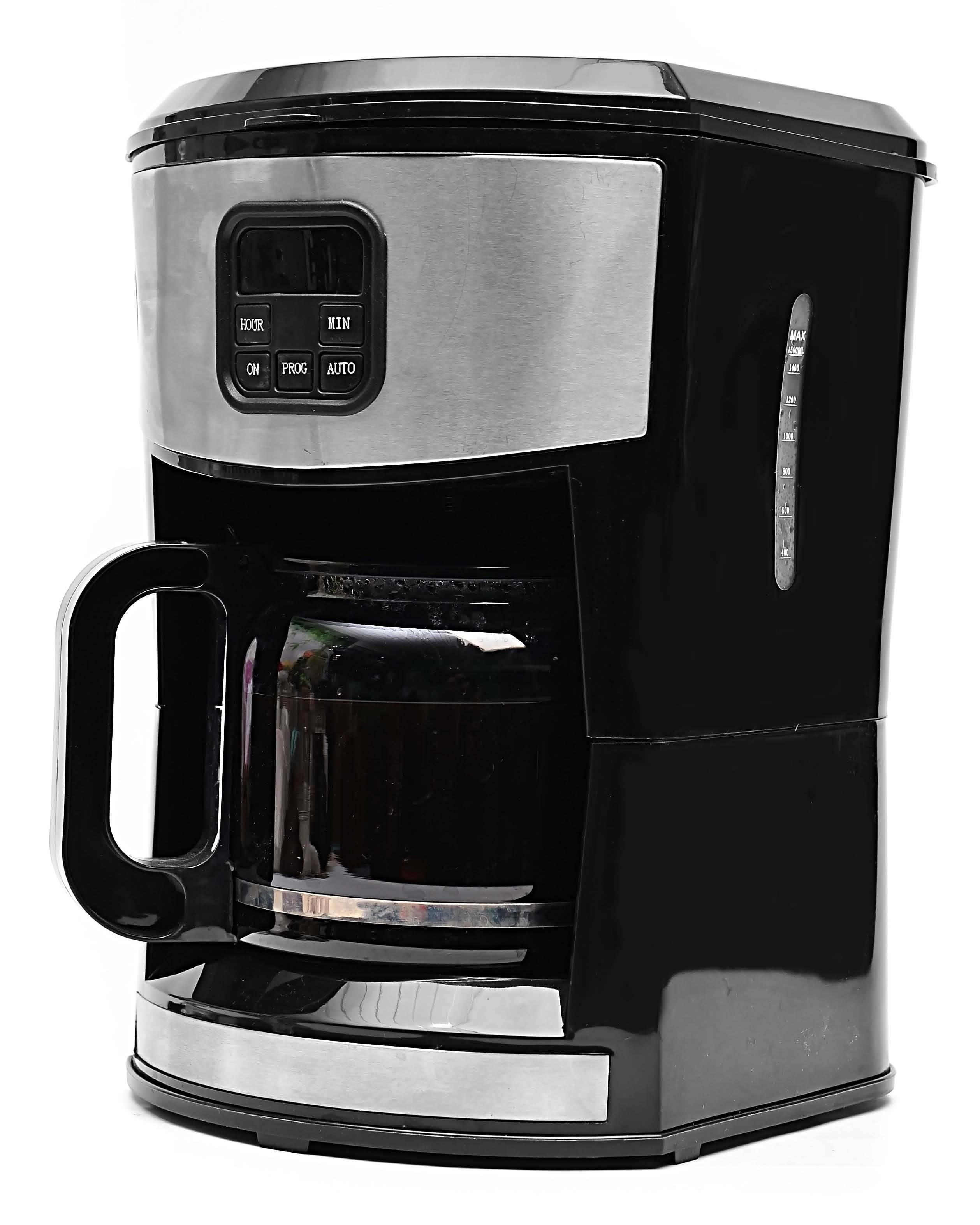 GS/CE/RoHS/LFGB/CB-approved 1000W 10-/12-cup Programmable Coffee Maker KM-613