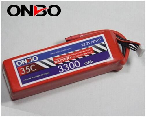 ONBO 3300mah 35c 6s 22.2v lipo batteries