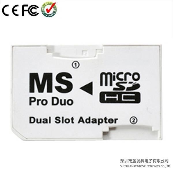 Winfos, Dual Slot Photofast CR-5400 Microsd (HC) to Ms PRO Duo Adapter
