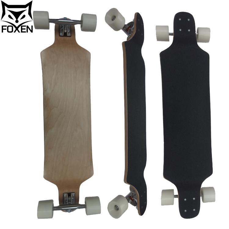 Hot Selling 4 Wheels Black Griptape Canadian Maple Complete Skateboard Longboard