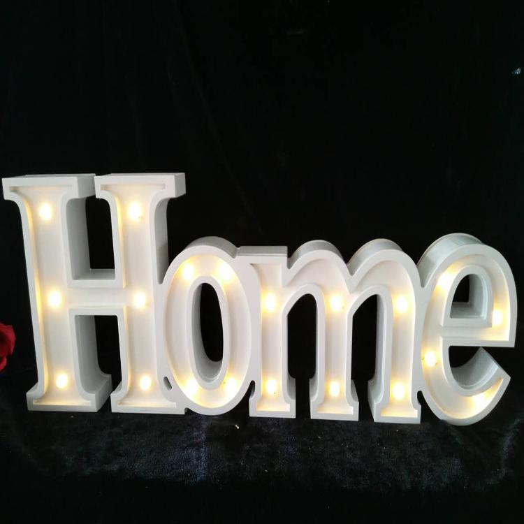 wooden decorative party letters light led alphabet light