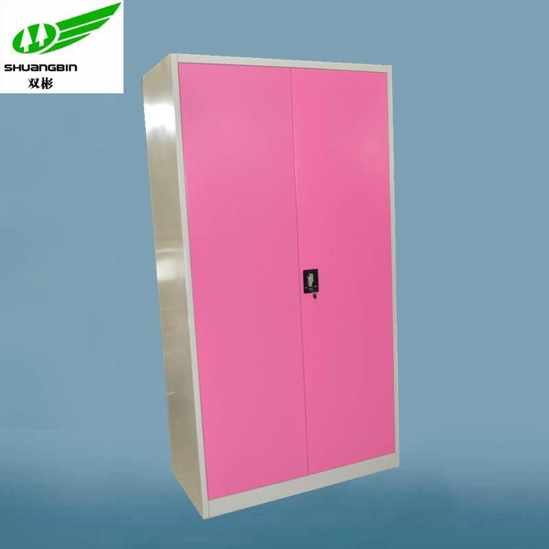 bedroom design pink steel clothes wardrobe cabinet metal office furniture