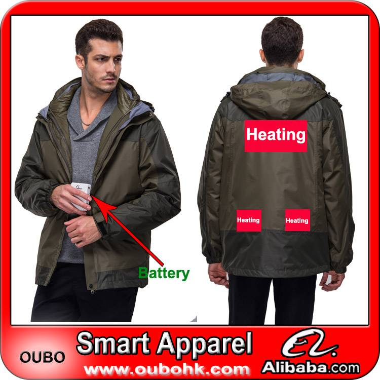 Men's coat with high-tech electric heating system battery heated clothing warm OUBOHK