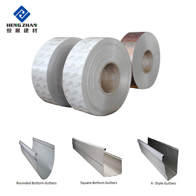 Color Coated Aluminum Coil Strips Used For Rain Gutter