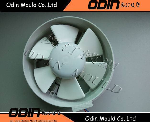 fan blade injection mould with hot runner
