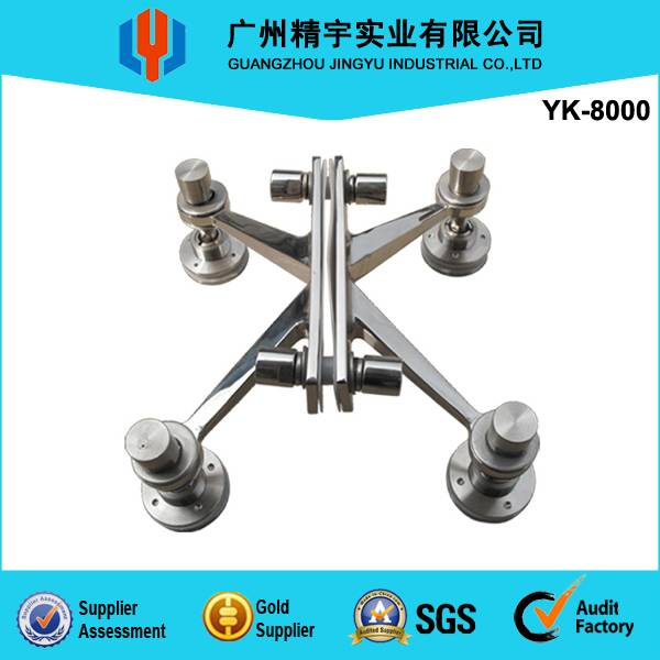 stainless steel four-arms solid glass spider