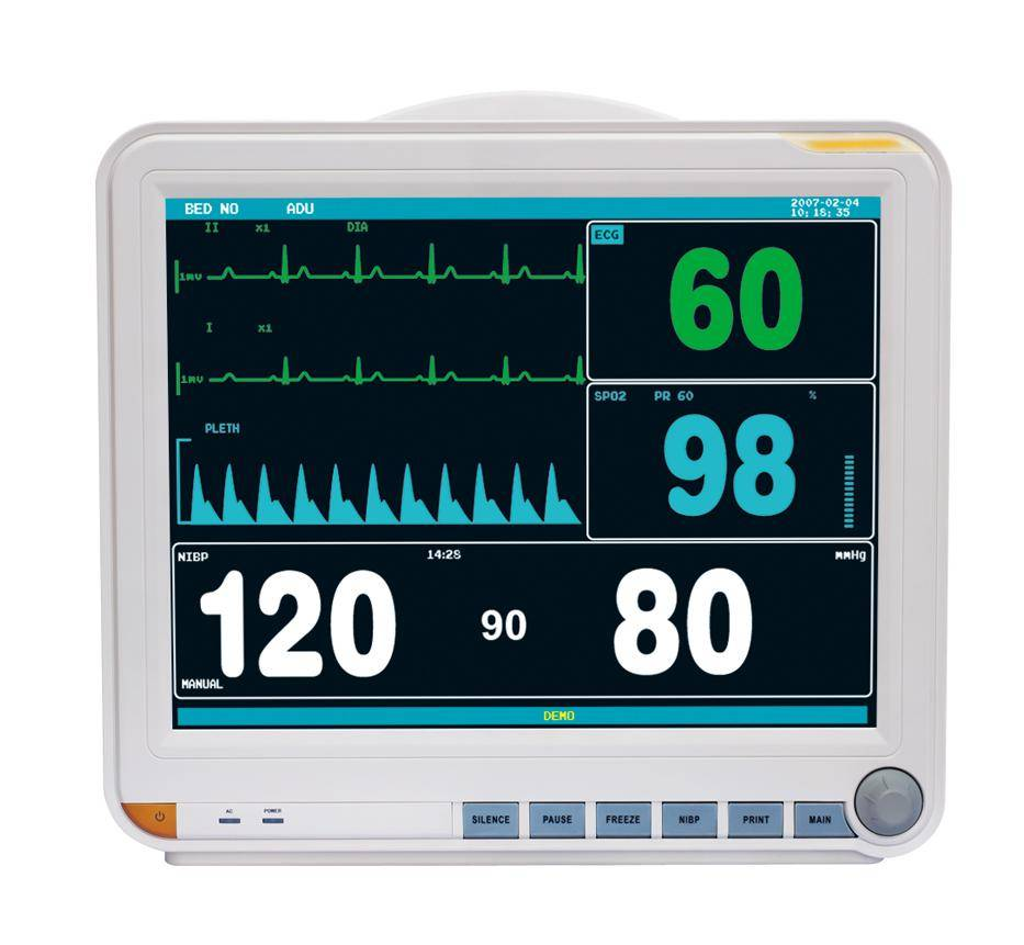 15 inch six parameters patient monitor