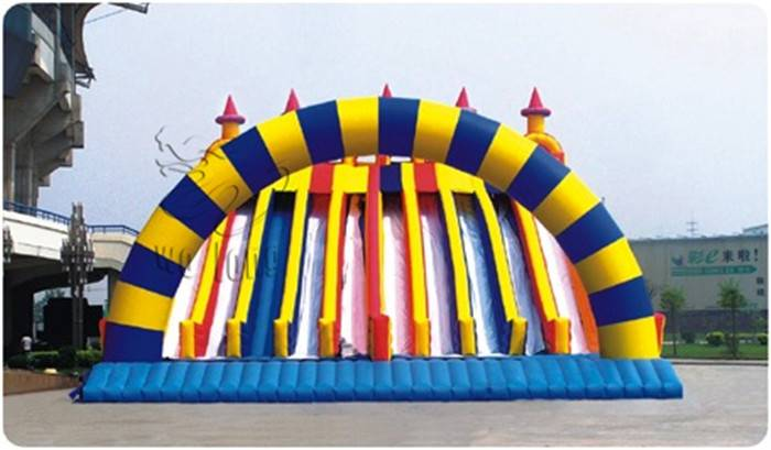 Exciting Inflatable Ten Track Slide/the inflatable sport games
