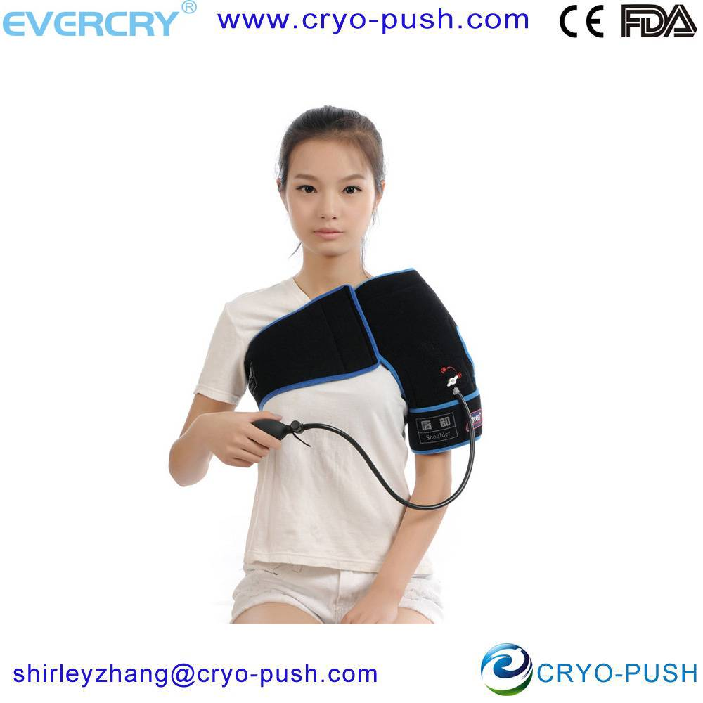 EVERCRYO china supplier medical devices shoulder cold gel wrap for shoulder ice treatment with compr