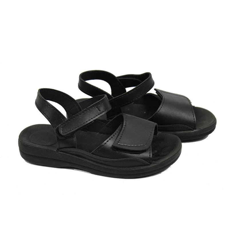 Dust-free Black Leather Non-slip Antistatic Safety Sandals