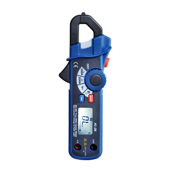 AC/DC Clamp Meter 200A with True RMS/NCV Tester/Analog Display