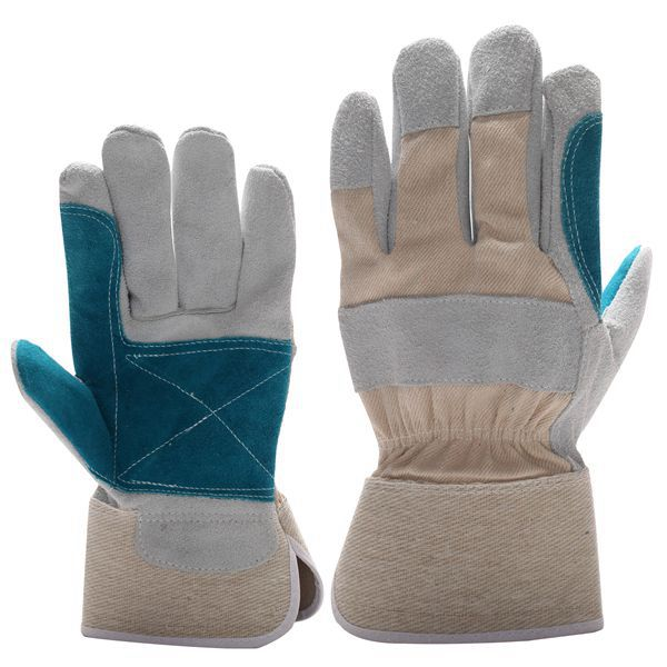 Double palm split leather fitters heavy duty rigger glove