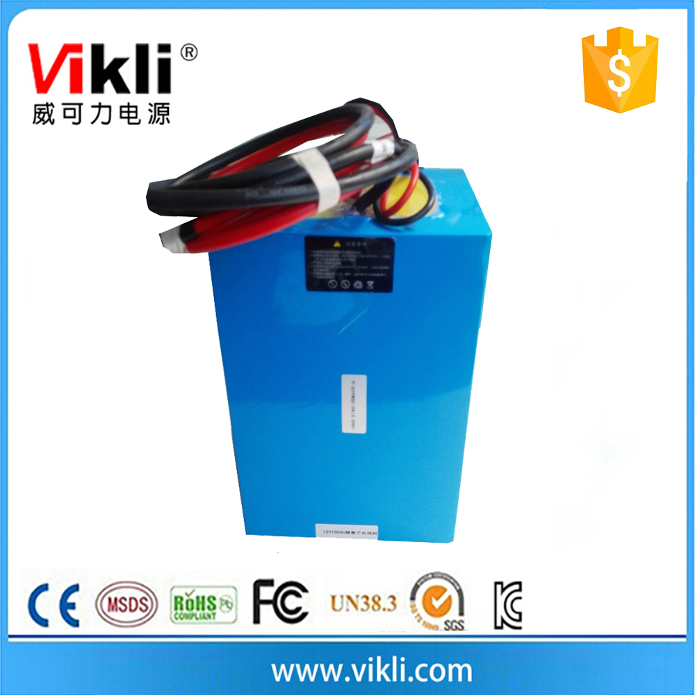 Deep cycle lithium ion rechargeable battery 12v 100ah for solar storage