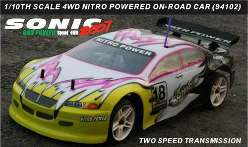 1:10th scale nitro gas powered on-road car(94102)