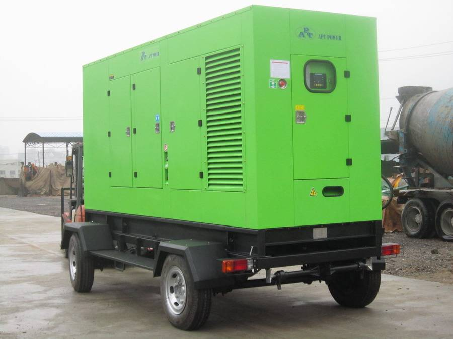 Trailer Sound-proof Generators with Perkins Diesel Engine Stamford Alternator and 50Hz Frequency