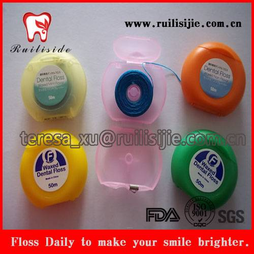 Hilos Dentales Waxed Unwaxed Dental Floss Fresh Mint Flavor with Custom Private label