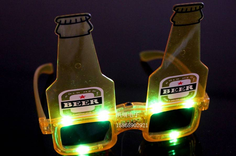 christmas toy LED glasses BEER carnival festival holiday supplies party decoration luminous christma