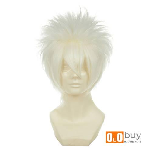 Hitman Reborn Sakata Gintoki Byakuran Gesso White Versatile Towering Short Cosply Wig