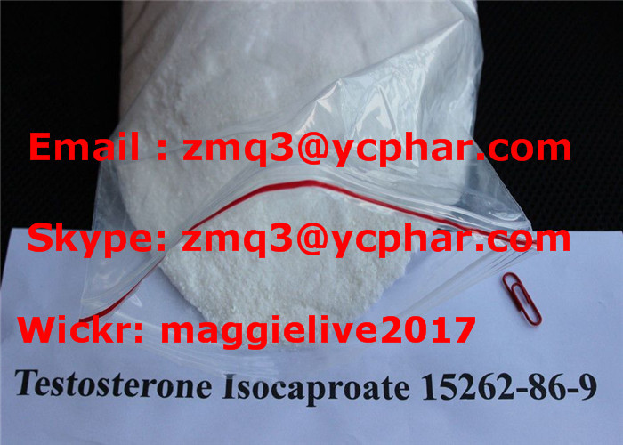 White Crystalline Powder Testosterone Isocaproate Increasing Strength