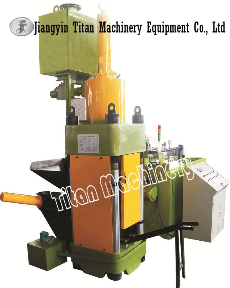 metal chips briquetting press machine
