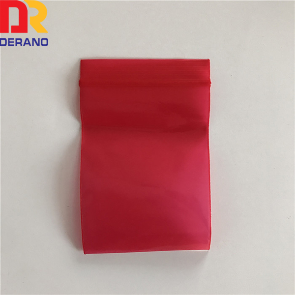 High quality clear single plastic 100% LDPE color zipper bag for packing