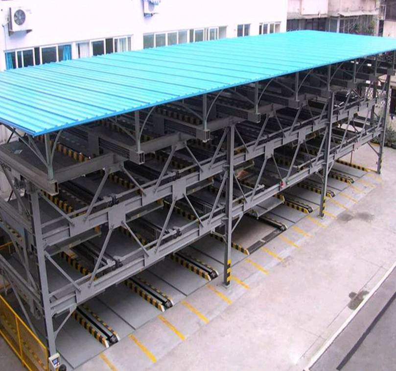Four layers lift-sliding parking system